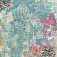 {Jubilee}Teals floral and butterflies - K&Company