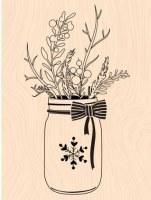 {Mint choco et gourmandises} Tampon bois WINTER JARD - Les ateliers de Karine