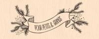 {Mint choco et gourmandises} Tampon bois BANNIERE HIVERNALE - Les ateliers de Karine