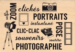 {Capsule mars 2016}Tampon bois CLIC-CLAC SOUVENIRS - Florilèges