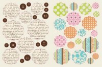 {Lovely}Chipboards stickers - Lily bee