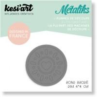 Forme de découpe(die) - Mini Métaliks ROND BRODÉ- Kesi'art