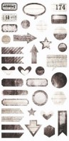 {Writer's block} Die cuts elements - 7 Dots studio