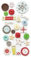 {Merry little christmas}Boutons et chipboards - Fancy pants