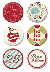 Badges MERRY LITTLE CHRISTMAS - Fancy pants