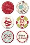 Badges MERRY LITTLE CHRISTMAS - Fancy pants