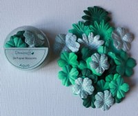 24 fleurs papier AQUA - Dovecraft
