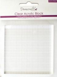 Bloc acrylique 9 x 9 cm - Dovecraft