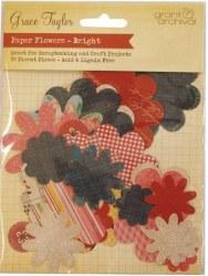 {Grace taylor}Die cuts BRIGHT FLOWERS - Grant studios