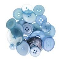 Boutons bleus - Kesi'art