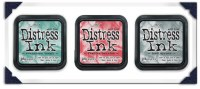Set 3 DISTRESS INK Christmas