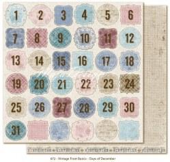 Vintage frost basics - Days of december - Maja design