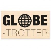 Tampon bois GLOBE TROTTER - Kesi'art
