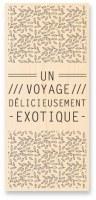Tampon bois VOYAGE EXOTIQUE - Kesi'art