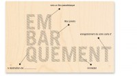 Tampon bois EMBARQUEMENT - Kesi'art