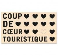 Tampon bois COUP DE COEUR TOURISTIQUE - Kesi'art