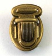 Fermeture cartable bronze