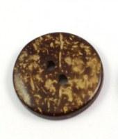 Bouton noix de coco FONCÉ