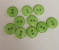 Lot 10 mini boutons VERT CHARTREUSE 1 cm - Kirecraft