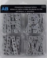Chipboards alphabet STRASS SILVER - Amanda Blu