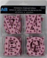 Chipboards alphabet STRASS ROSE - Amanda Blu