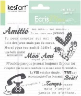 Tampons clear UNE BELLE AMITIE - Kesi'art