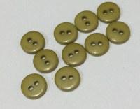 Lot 10 mini boutons VERT KAKI 1 cm - Kirecraft