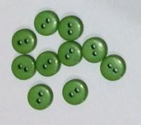Lot 10 mini boutons VERT RÉSINE 1 cm - Kirecraft