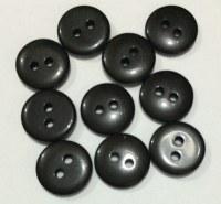 Lot 10 mini boutons NOIR 1 cm - Kirecraft