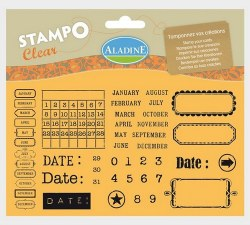 Tampons clear CALENDRIER - Aladine