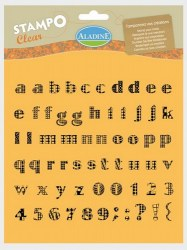 Tampons clear ALPHABET SIXTIES MINUSCULE - Aladine