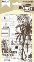 Tampon de fond monté sur mousse POSTAL CARD - Kesi'art
