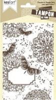 Tampon de fond monté sur mousse BUTTERFLIES - Kesi'art