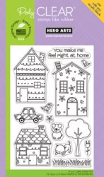 Tampons clear WHIMSICAL HOUSES - Hero arts