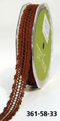 Ruban CROCHET BROWN - May arts