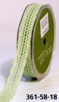 Ruban CROCHET LIGHT CELERY - May arts