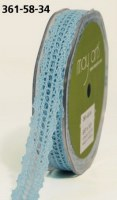 Ruban CROCHET LIGHT BLUE - May arts