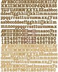 {Lady bird}Stickers alphabet canvas - Prima