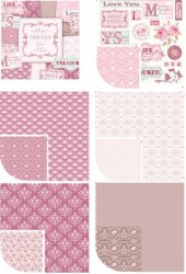 Bloc papiers 30x30 AUTUMN LILAC - Tilda
