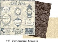 Kit 6 feuilles FRENCH EXTRAS - Collections elements