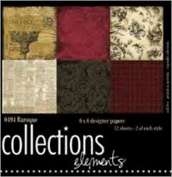 Kit papiers 15x15 cm BAROQUE - Collections elements
