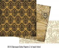 Kit 6 feuilles BAROQUE EXTRAS - Collections elements