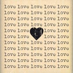 Tampon bois CARRE LOVE - Florilèges