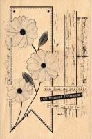 Tampon bois FLEURS VINTAGE - Florilèges