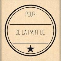 Tampon bois DE LA PART DE - Florilèges
