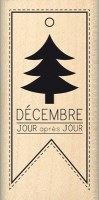 Tampon bois SAPIN DE DECEMBRE - Florilèges