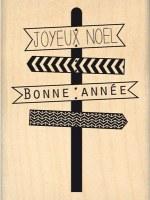 Tampon bois JOYEUX PANNEAUX - Florilèges