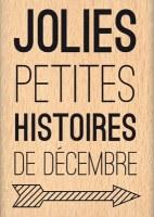 Tampon bois HISTOIRES DE DECEMBRE - Florilèges