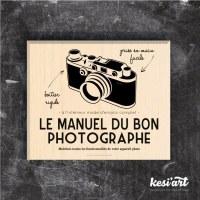 Tampon bois MANUEL DU PHOTOGRAPHE - Kesi'art