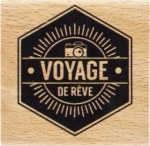 {Capsule août 2016}Tampon bois VOYAGE DE REVE - Florilèges